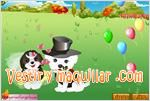 Juegos cute pet wedding dress up pareja de perros
