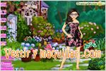 Juegos floral dress up styling vestido de flores