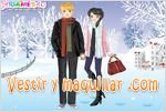 Juegos winter romance dress up romance en invierno