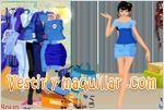 Juegos sapphire blue fashion vestir a la modelo