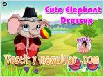 Juegos cute elephant dressup. viste al elefante