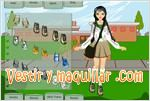 Juegos school girl dress up vestir a la ni�a de la escuela