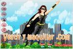 Juegos girl superhero dress up vestido de superheroe